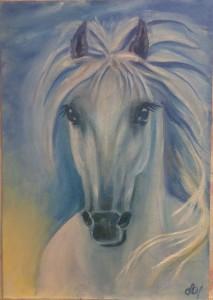 Белая Лошадь рисовать